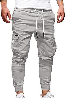 jieGorge Pantalones, Moda para Hombre Cinturones de Amarre para Juntas Deportivas Pantalones de chándal Sueltos Ocasionale...