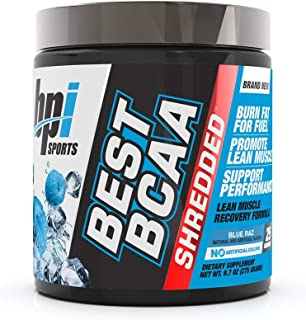 BPI Sports Best BCAA Shredded - Caffeine-Free Thermogenic Recovery Formula - BCAA Powder - Lean Muscle Building - Accelera...