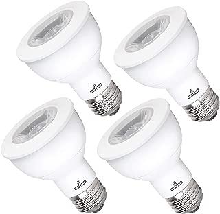PAR20 Dimmable LED Bulb, 7 Watt Flood Light Bulb, (50W Equivalent) Daylight 4000K, 525-Lumens, (E26), UL-Listed, Energy Certified (4-Pack)