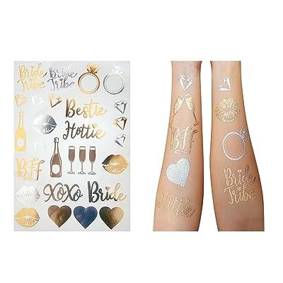 Bride Bride Tribe Gold Temporary Tattoos A Bach...