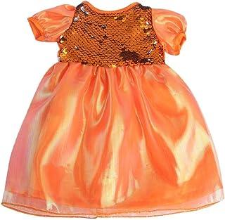 LuDa American Doll Skirt 43cm Baby Dolls 18 Inch Princess Gauze Casual Clothes - Orange, 26cm