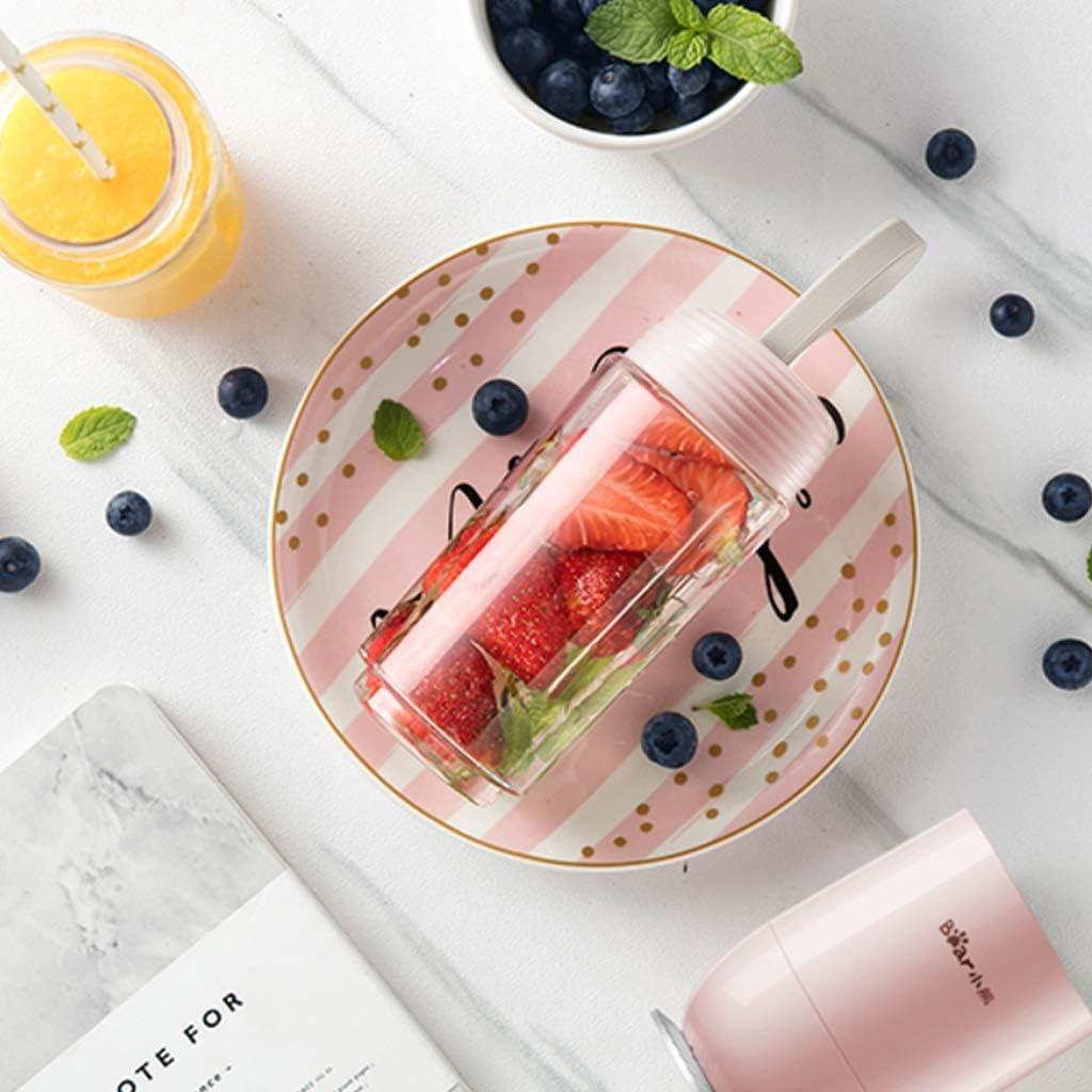 Juicer Portable Mini Multi-Ménage fonction électrique jus de cuisson petite machine jus Cup Carry pleine automatique (Couleur : Rose) Rose