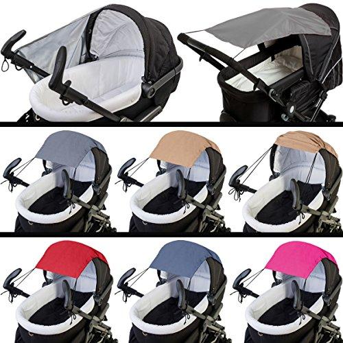 Voile d'ombrage/Pare-soleil (Protection UV 50 +) pour poussette/poussette (Pear de polyester) dans le quartier branché Melange de design