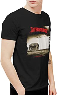 Hombres Alter Bridge Fortress Humor Outdoor camiseta negra de manga corta