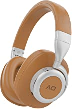 AO Bluetooth Wireless Headphones with Active Noise Cancelling Technology- M6 … (Brown)