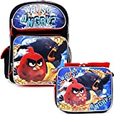 Angry Birds 16' inches Large Backpack & Lunch Box - WHY SO ANGRY? New Licensed