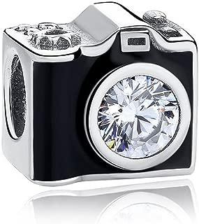 Sentimental Snapshots Photography Black Camera Charm Silver fit Pandora Bracelets
