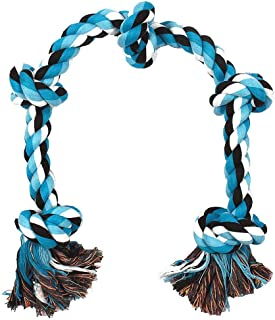 """RvPaws Cotton Made 5 Knot Rope Toys Puppy Chew Toys Dog Toys, Size 26"""" Inch, 18 mm - Color May Vary (Pack of One)"""