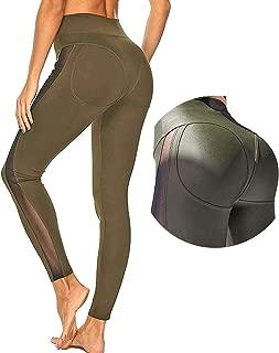 Women's Honeycomb Ruched Butt Lifting High Waist Yoga Pants Chic Sports Stretchy Leggings …