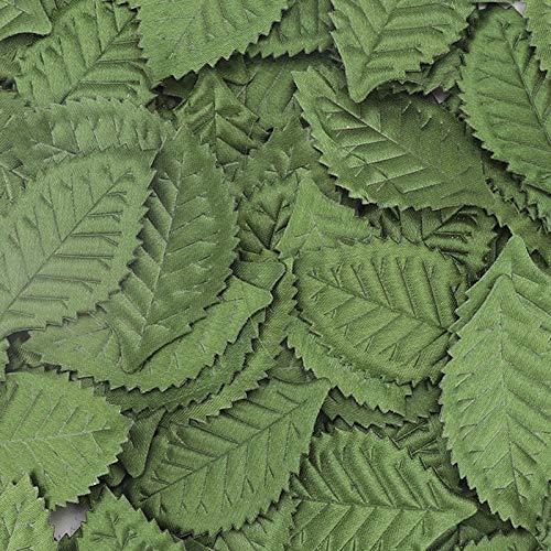 100 Pcs Hojas Artificiales Hojas Verdes Flores Falsa Verde Hojas Plantas Falsas...