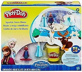 Play-Doh Disney Frozen Sparkle Snow Dome Set with Elsa & Anna + Play-Doh Sparkle Compound (12 oz Package)