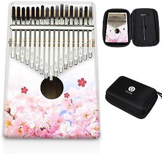 PURM Kalimba 17 Keys Thumb Piano with Waterproof Protective Box Portable Mbira Finger Piano Gifts for Kids and Adults Begi...