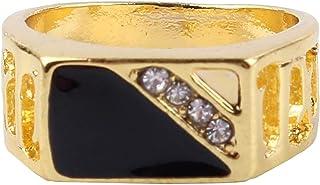 MDTBB خواتم الرجال مربعة كلاسيكية للرجال خاتم المفصل المفصل المفصل للرجال أنيقة خواتم واسعة جدا، 18.9 مم