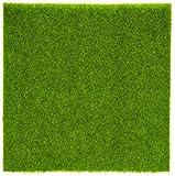 Oueaen Artificial Césped Estera de Plástico Césped de Hierba Interior Exterior Verde Césped Sintético Micro Paisaje Ornamento Decoración del Hogar(30 * 30cm)