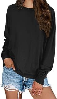 KIRUNDO 2019 Women's Solid Sporty Sweatshirt Crew Neck Long Sleeves Pullover Ribbed Cuffs Hems Sweaters Outwear