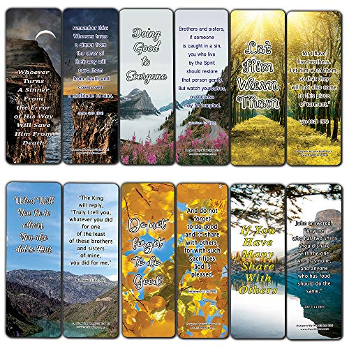 We Make a Difference in Others Memory Verses Bookmarks (12-Pack) - Collection of Bible Verses