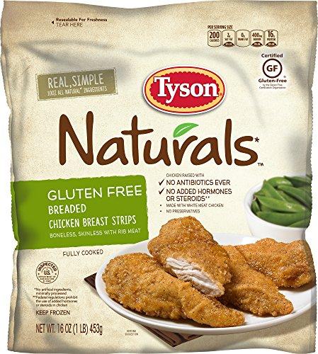Tyson Naturals Gluten Free Breaded Chicken Breast Strips, 16 oz. (Frozen)