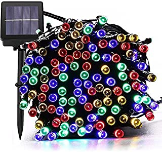 [72ft 200 Led] Solar Outdoor String Lights/Fairy Outside Lighting Yard Patio Decoration, 8 Mode (Steady, Flash), Waterproof, Garden Decor, Halloween, Christmas, Tree, Party, Holiday (Multi-Color)