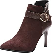 ✚Coollevis✚ ❥ Fashion Women Boots Buckle Strap Pointed Toe High Thin Heel Shoes Party Boots Ankle Shoes