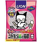ライオン (LION) ニオイをとる砂 ニオイをとる紙の猫砂 10L