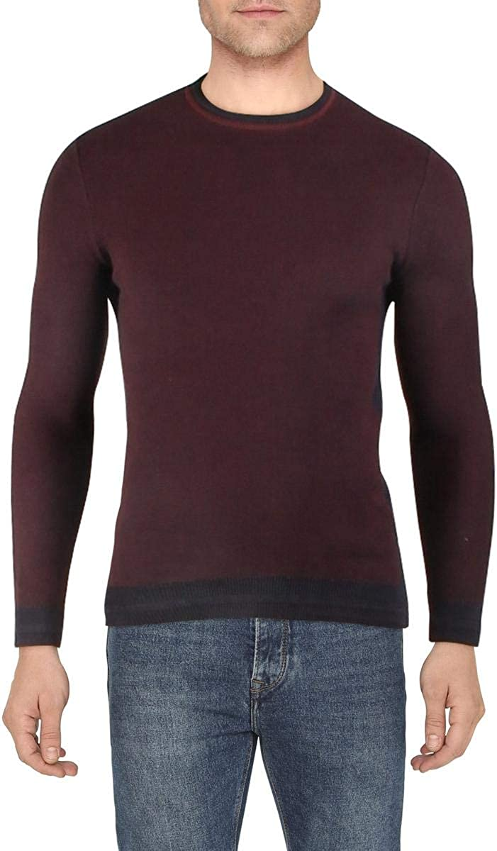 Vince Camuto Mens Cotton Pullover Crewneck Sweater Navy XS
