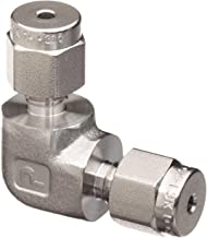 Parker A-Lok 4EE4-316 316 Stainless Steel Compression Tube Fitting, 90 Degree Elbow, 1/4