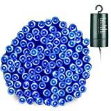 Joomer Battery Christmas Lights, 66ft 200 LED Battery Operated String Lights Waterproof 8 Modes & Auto Timer for Christmas Trees, Home, Garden, Party and Holiday Decoration (Blue)