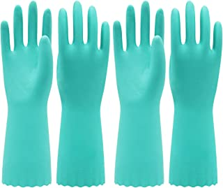 Pacific PPE 2Pairs Household Glove Reusable Cleaning Dishwashing Gloves-Latex Free Waterproof PVC Gloves for Kitchen,Garde...