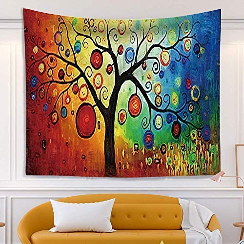 Wall Tapestry, Hippie Trippy Forest Aesthetic Tapestry Wall Hanging Realistic Printing Non-toxic and Non-fading Design for Indie Decor,Beach Towels, Yoga Mats,Wall Tapestry for Bedroom Aesthetic(51.2*59.1)