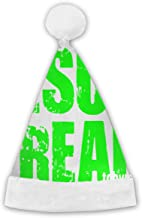 Christmas Hat - Label Me A Jesus Freak Logo Santa Hat Confortable Velvet Christmas Hat - Perfect for Any Holiday Event