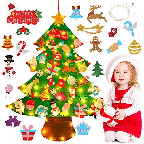 JUSTDOLIFE Fieltro Árbol de Navidad, 3.34ft Árbol Rbol De