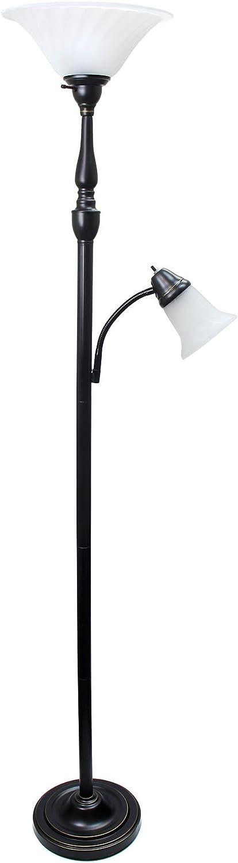 Elegant Designs LF2003-RBZ Ranking TOP17 2 Light 3 half Lamp Daughter Floor Mother