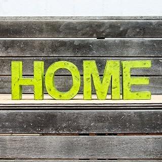 Palabra decorativa HOME formada por letras pintadas en color verde en varios tonos y acabado envejecido. Ideal para bodas,...