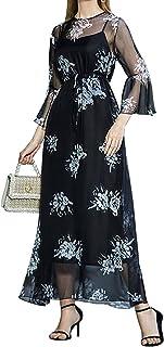 FridayIn Women's Fashion Floral Printed Dresses