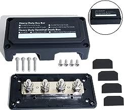boeray Heavy Duty Bus Bar Power Distribution Box Terminal Power Block Boating Fishing Battery Switches Busbars 12 v -24 v Max 48V 300 amp