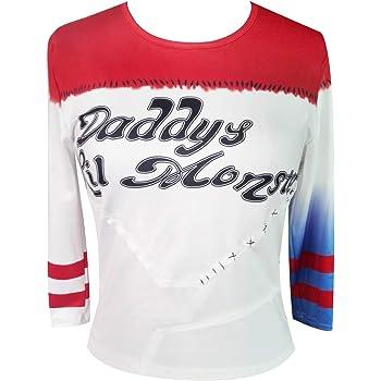 NeuFashion Lil del Monstruo Camiseta béisbol de Las Mujeres niñas ...