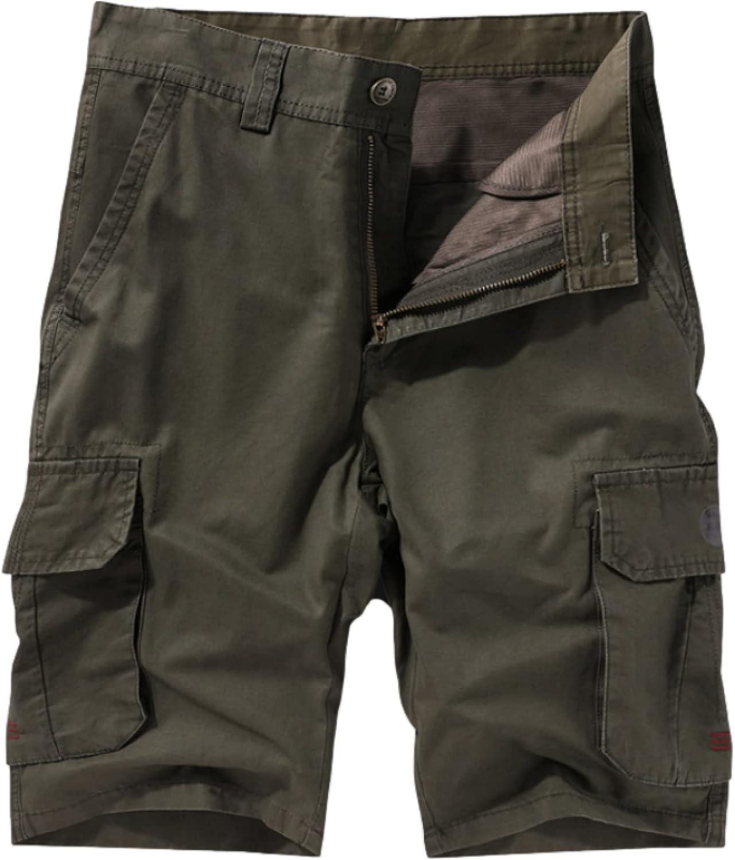 Katenyl Men's Cargo Shorts Fashion Outdoor Camping Streetwear Casual Stitching Big
