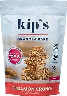 Kip's Cinnamon Crunch Granola Bark, Free of Top 8 Allergens, Peanut Free, Nut Free, Gluten Free, Dairy Free, Soy Free, Egg Free, Vegan, Kosher (2 pack)
