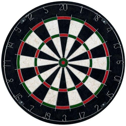 Trademark Games Bristle Dart Board with Metal Wire Spider – Professional Regulation Size Tournament Set with 617 Gram Steel Tip Darts for Indoors