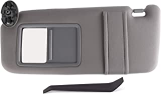 SouthWit Drivers Left Sun Visor Replaces for 2007 2008 2009 2010 2011 Toyota Camry/Hybrid Sunvisor - Replaces #74320-06780-B0, 74320-33B81-B0-Gray (NO SUNROOF)