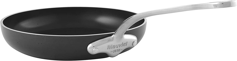 Mauviel 8629.20 M'Stone3 Non-Stick Fry Pan 8  SS Handle, 8 , Black