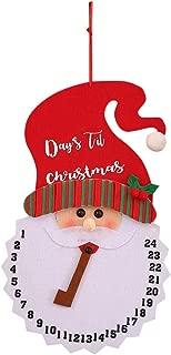 VIASA_ Christmas Hang Ornaments Cartoon Snowman Alarm Clock Santa Claus Creative Wall Clock Pendulum Clock Home Decor