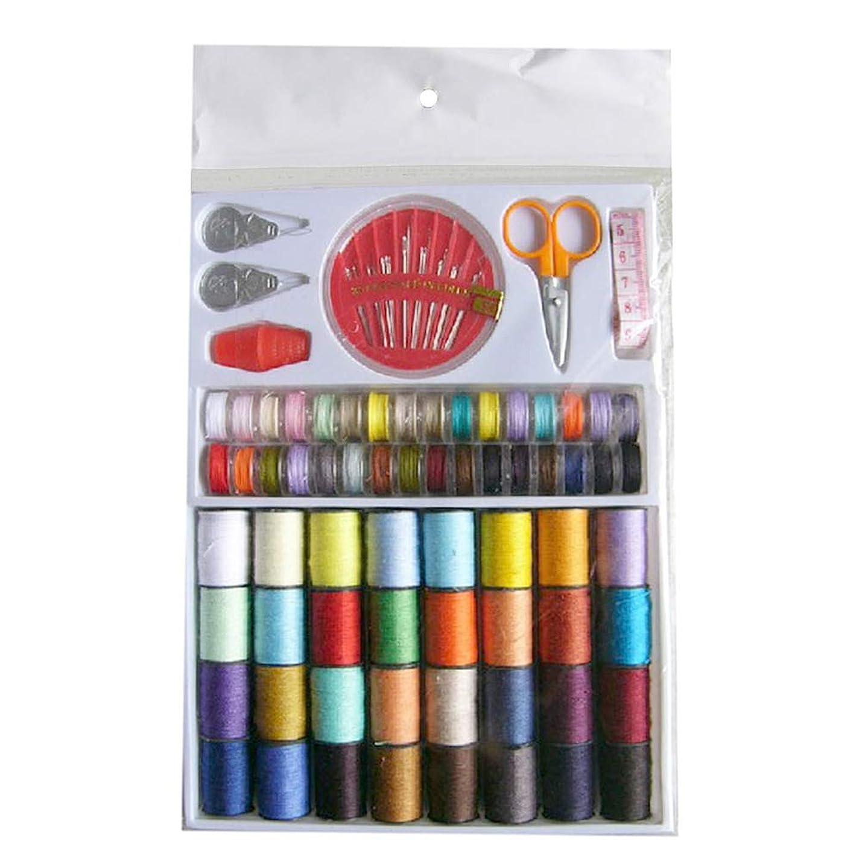 SUPVOX Sewing Thread Spools Kit Thread Spools Cone Coils Sewing kit with Scissors Thimble Tape iphbkwpddbytt966