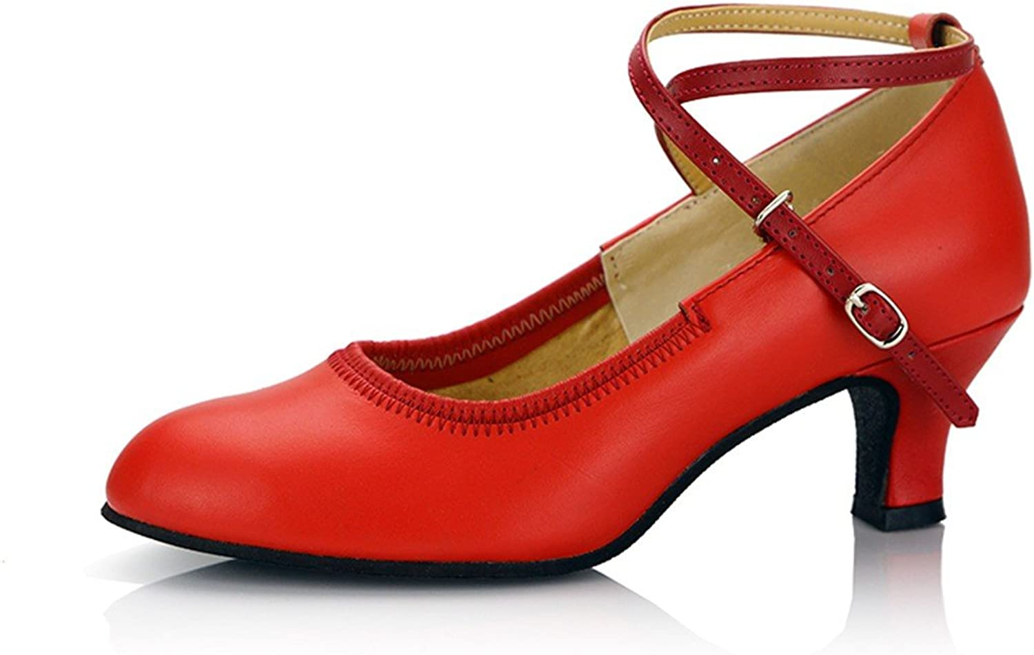 WXMDDN The red Dance shoes 5.5cm Soft, Latin Dance shoes Adult Seasons in Quite The Dance Dance shoes