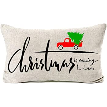 Pycat Valentines Truck Throw Pillow Cover My Heart is Full 18 x 18 for Couch Farmhouse Holiday Decorations Home D/écor Decorative Pillowcase Cotton Linen Cushion Case for Sofa