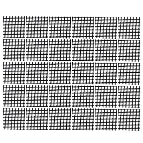 Bluecell 30pcs Plastic Flower Pot Hole Mesh Pad Bonsai Bottom Grid Mat, 2 x 2inches