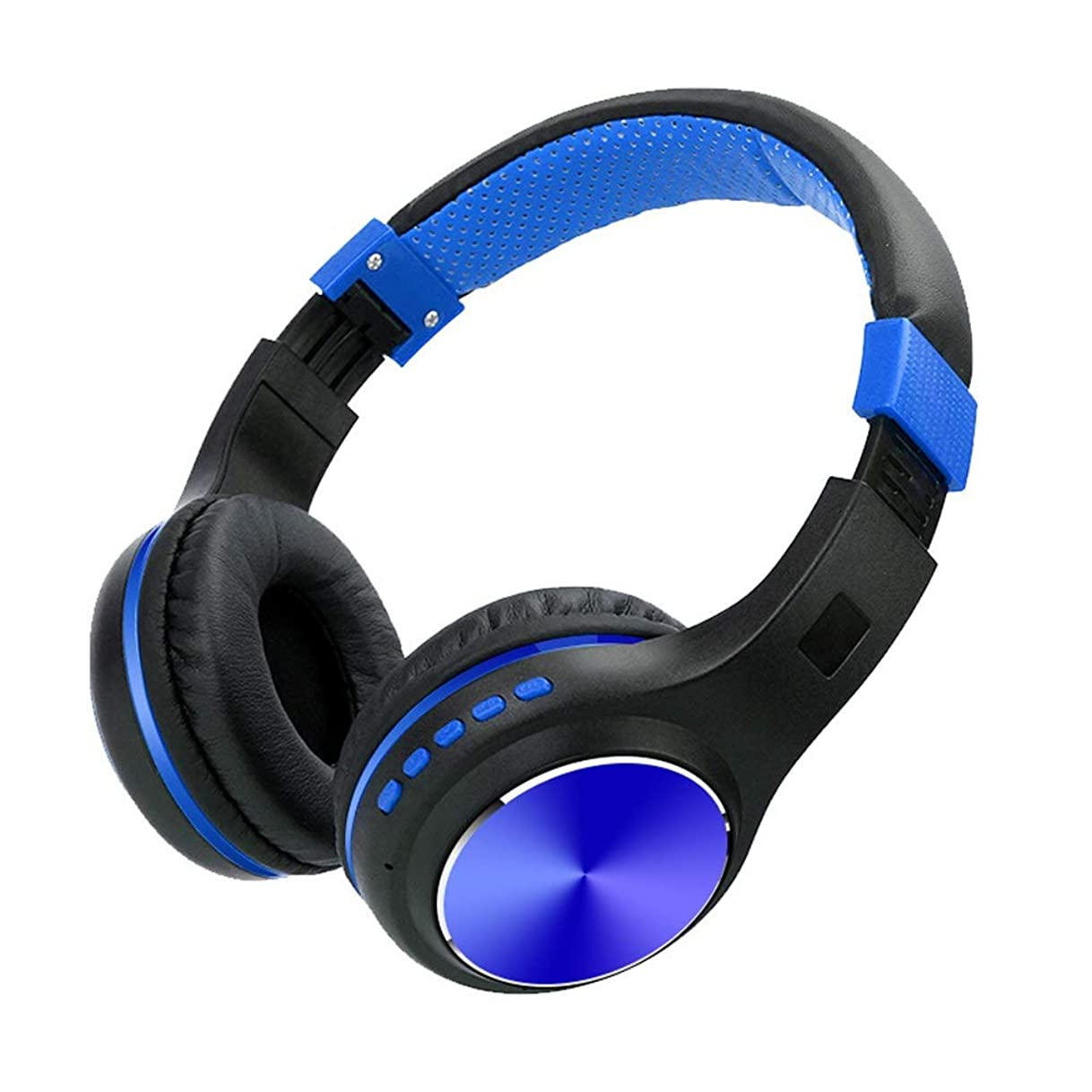 その結果忌まわしいベルトヘッドセット ブルートゥースヘッドフォン、携帯電話用のマイクに内蔵された音量調節付きワイヤレス折りたたみ式ワイヤレスブルートゥースゲーミングヘッドセットIPad IPhoneラップトップコンピュータ (Color : Blue)