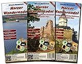Harzer Wandernadel: 3 teiliges wetterfestes Kartenset -