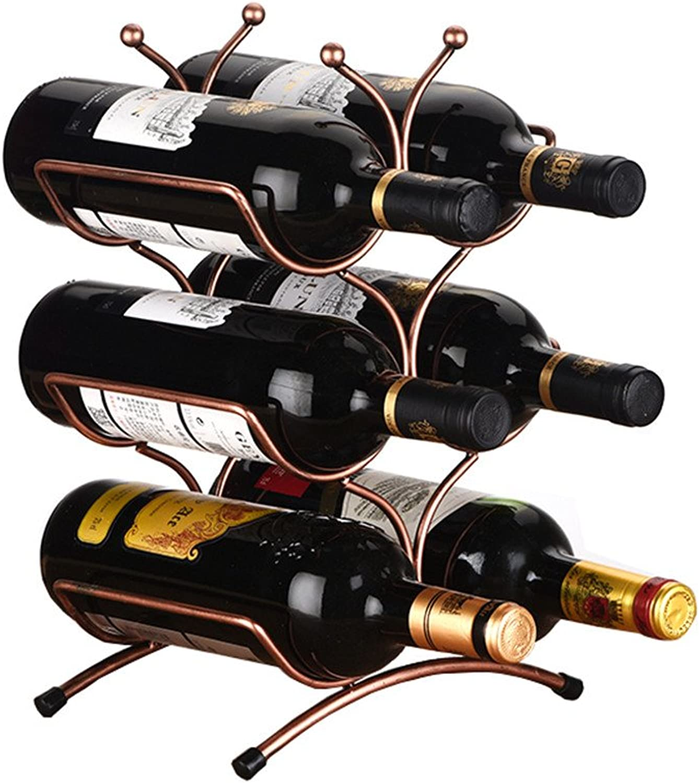 Creative Wine Rack 6 Packs and More European Style Iron Wine Shelf Fashion Home Wine Rack Decoration Family