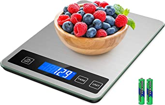 Brifit Food Scale, 15kg/33lb Digital Kitchen Scale with 1g Accuracy for Cooking Baking, Greater Accurate Multi-Function Ba...